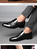Business Leather Shoes Men Breathable Rubber Formal Dress Shoes Male Office Wedding Flats Footwear - mbrbproducts