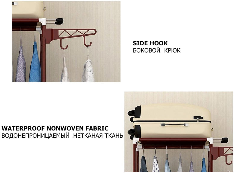 Simple Hanger Clothes Storage Shelf Iron Metal Racks Bedroom Furniture - mbrbproducts