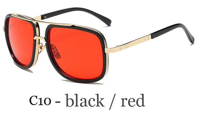 Men Sunglasses Women Sun Glasses Square retro Mirror Eyewear Classic Oversized - mbrbproducts