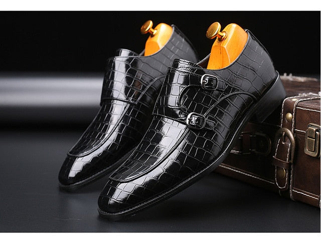 Men's Leather Formal Shoes dress shoes Fashion Retro Shoes Elegant work Pointed Toe Footwear - mbrbproducts