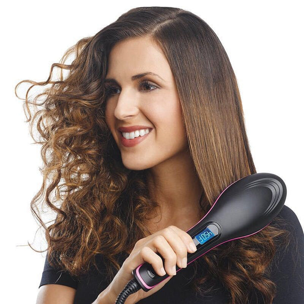 Electric Hair Straightener Brush Styling Hair Comb Hair Care Auto Massager Simply Fast Hair - mbrbproducts