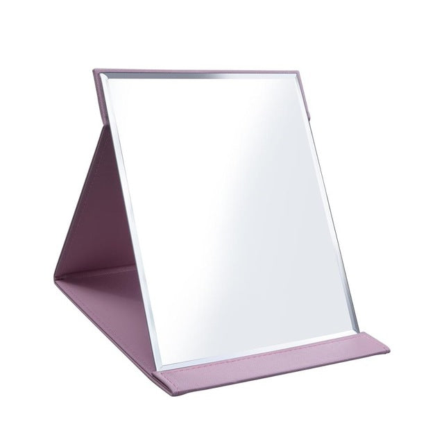 Pink Black Travel Mirror Stainless Steel Rectangular Mirror Makeup Folding Table Mirror - mbrbproducts