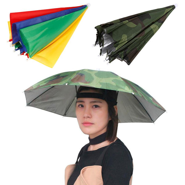 HobbyLane Outdoor Fishing Cap Foldable Sun Umbrella Hat Golf Camping Hiking Headwear Cap Sunscreen Shade Head Hats Sports Cap - mbrbproducts