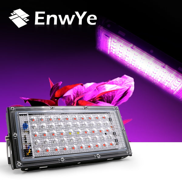 EnwYe 50W LED plant growth lamp AC 220V plant floodlight greenhouse plant hydroponic plant spotlight - mbrbproducts