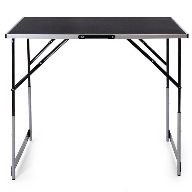 3 pcs Folding Height Adjustable Camping Picnic Table Set Durable Steel Construction Folding Table Lightweight Easy CarryOP3557 - mbrbproducts