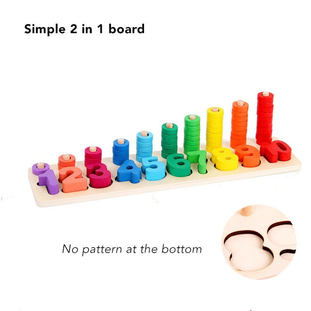 Baby Wooden Montessori Educational Material Toy Kids Early Learning Infant Board Toy For 3 Year Old - mbrbproducts