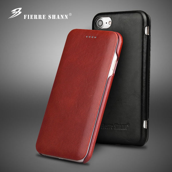 Leanther iPhone 6 6S 7 8 Plus X XR XS 11 Pro Max Built-in Magnet Real Leather Case - mbrbproducts