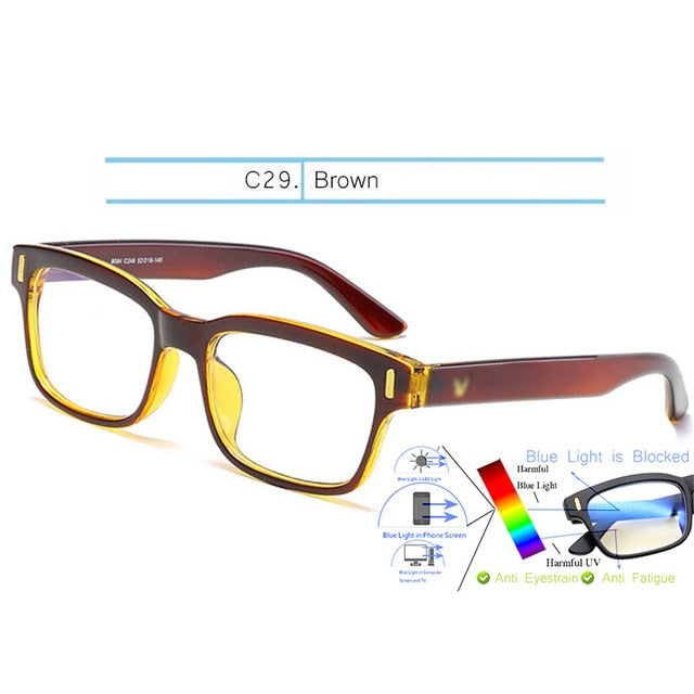 Blue Light Glasses Computer Gaming Frame Men Blue Rays Blocking Prescription Sunglasses 2020 - mbrbproducts