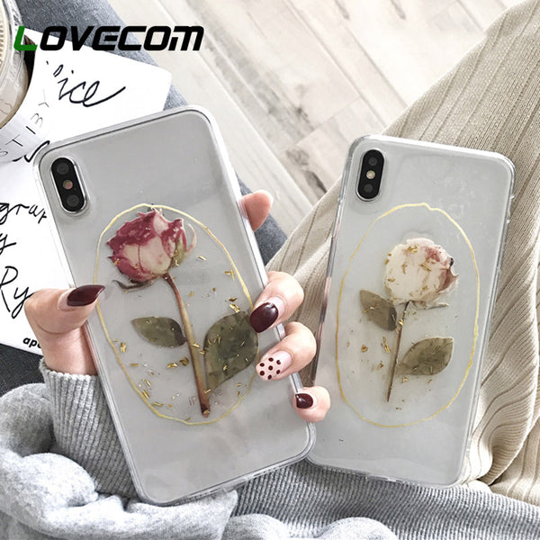 iPhone 11 Pro Max XS Max XR For iPhone 6 6S 7 8 Plus X Soft Back Cover Vintage Flower Gold - mbrbproducts