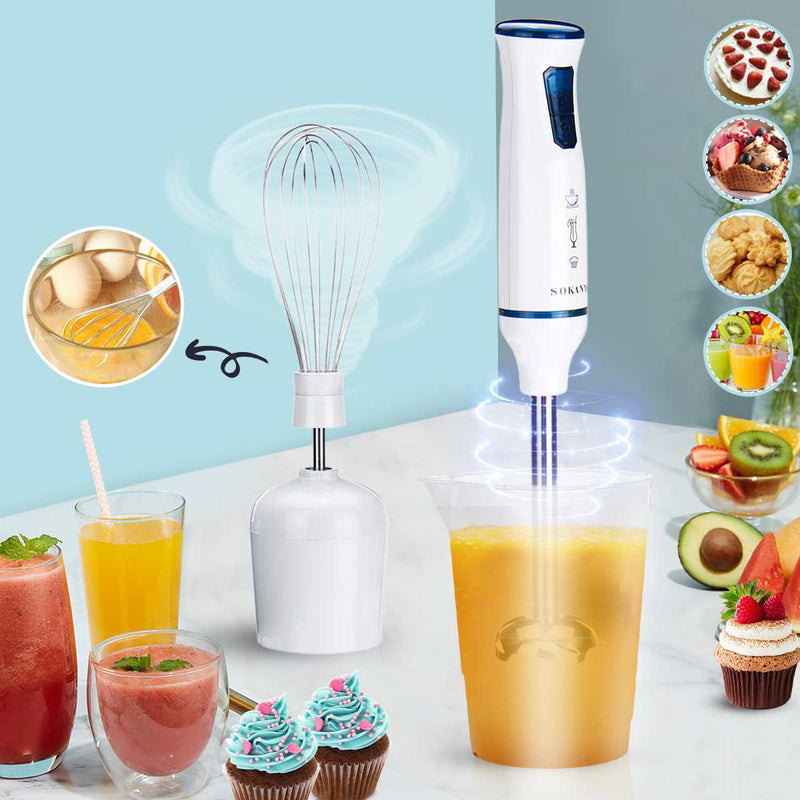 Electric Hand Blenders Mixture Egg Home Kitchen Mixer Stick Fruit Juicer Vegetable - mbrbproducts