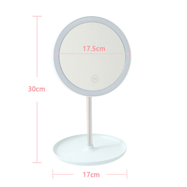 Makeup Mirror 10X Lights LED Lighted Portable Hand Cosmetic Light up Mirrors - mbrbproducts