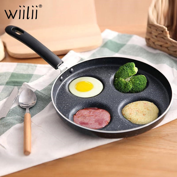 Pan Eggs Ham PanCake Maker Frying Pans Creative non Oil-smoke Breakfast Grill Pan Cooking Pot - mbrbproducts