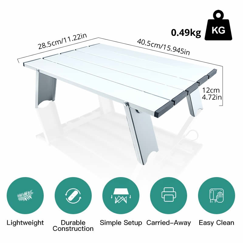 Folding Tables Candy-Light Color-Desks Picnic Outdoor Aluminum BBQ Mini-Size - mbrbproducts