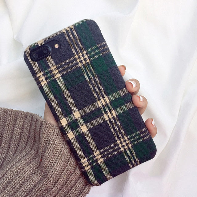Phone Case Simple Cloth Fabric Soft Cases Iphone 11 11 Pro Max 7 8 plus X XSMax XR 6 6s Cover - mbrbproducts