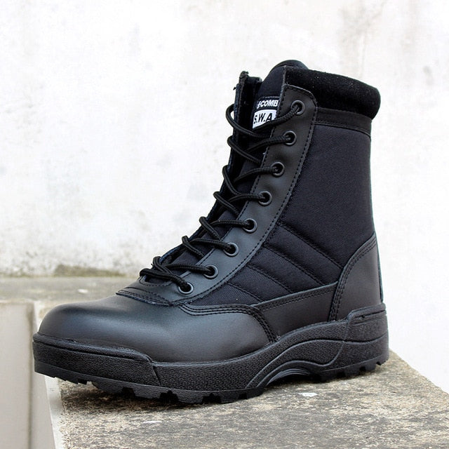 Army Boot  Men Desert Tactical Military Boots Mens Work Safty Shoes Combat Boots Size 46 - mbrbproducts