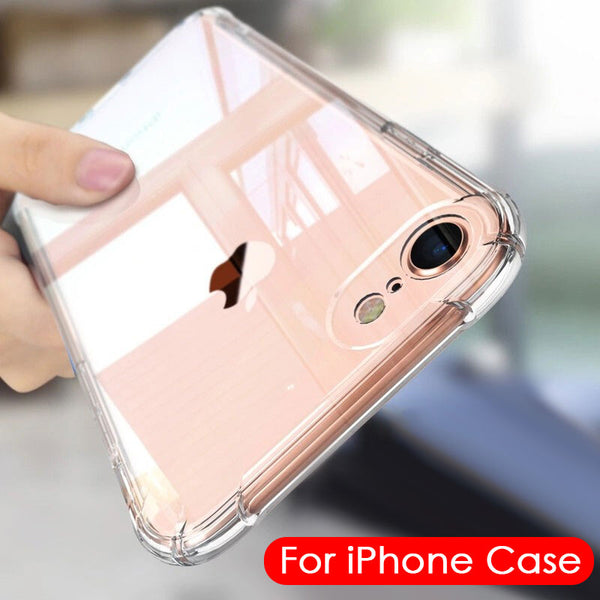 Case iPhone 7 8 6 6S Plus 7 Plus 8 Plus XS Max XR 11 Shockproof Clear - mbrbproducts