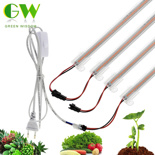 LED Grow Light 220V Full Spectrum LED Bar Lamps for Plants High Luminous Efficiency Phytolamp for Flowers Greenhouses Grow Tent - mbrbproducts