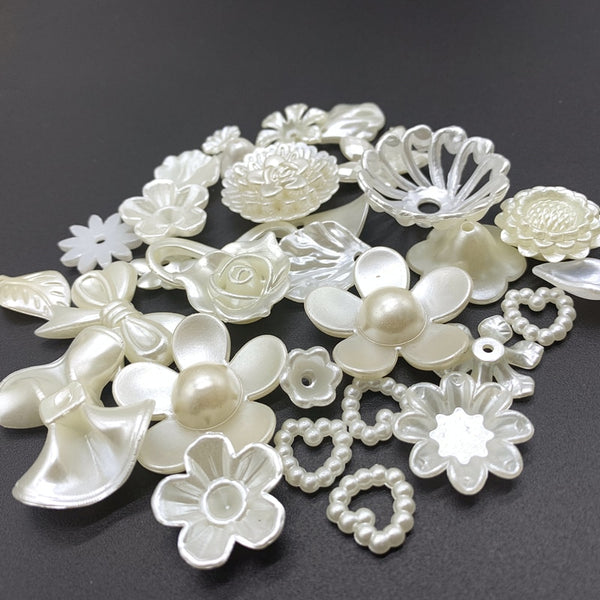 Acrylic Beads Ivory Pearl - mbrbproducts