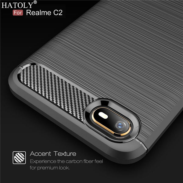 OPPO Realme C2 Case Realme C2 Soft Back Cover Carbon Fiber - mbrbproducts