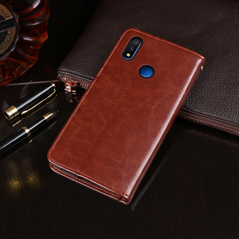 OPPO Realme 3 Pro Case Wallet Flip Business Leather Fundas Phone Case - mbrbproducts