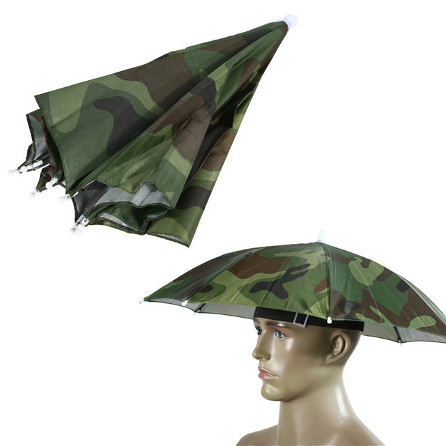 2 Color Umbrella Hat Parapluie Sun Umbrella Sun Shade Camping Hiking Fishing Umbrella Festivals Outdoor Brolly Parasol - mbrbproducts