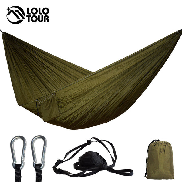 Portable Parachute Hammock Camping Survival Garden Flyknit Hunting Leisure Hamac Travel Double Person Hamak - mbrbproducts