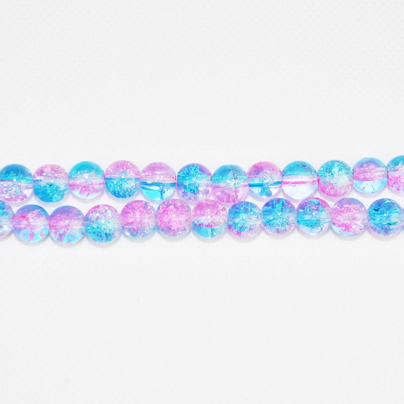 Round Crackle Glass Spacer Beads - mbrbproducts