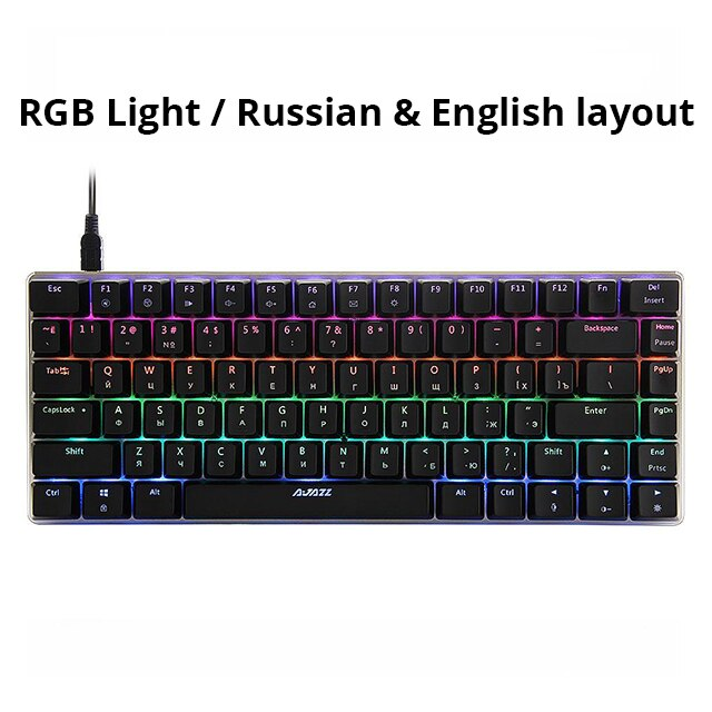 AK33 82 key Gaming Mechanical Keyboard Russian/English - mbrbproducts