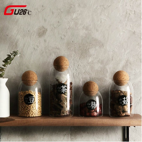 Kitchen Transparent Storage Bottles Bulk Products Jars Spices Sugar Tea Coffee Container Organizer - mbrbproducts