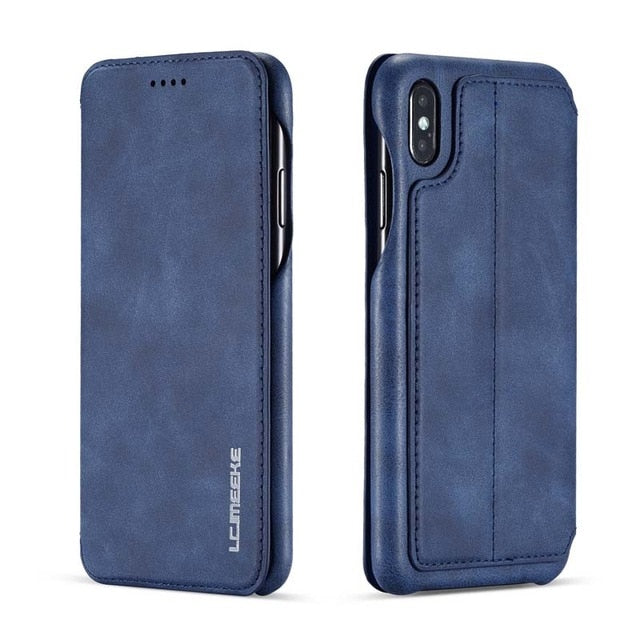 Wallet Leather Business iphone case XS Max XR XS X 6 6S 6Plus 7 8 7Plus 8Plus  JS0715 - mbrbproducts