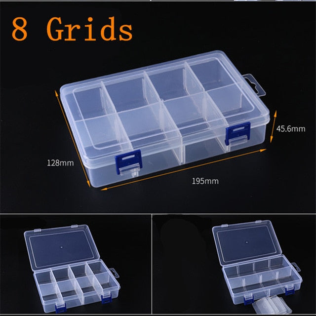 Adjustable 3-36 Grids Compartment Plastic Storage Box - mbrbproducts