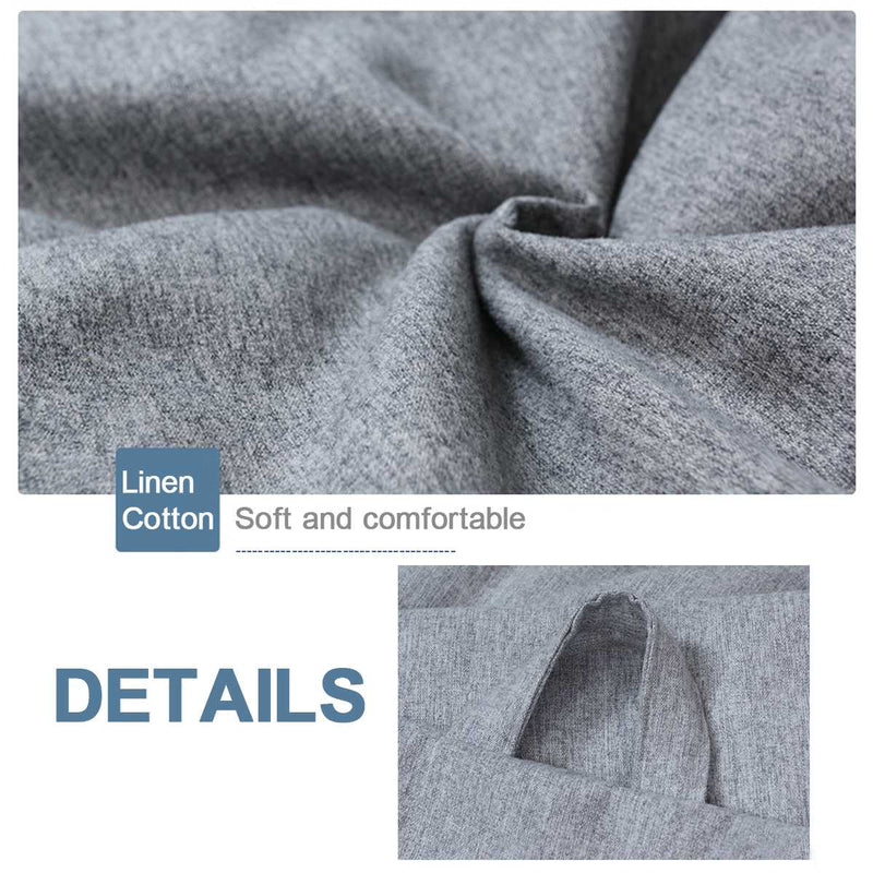 Living Room Bean Bag Sofas Linen Cloth Cover Large & Small - mbrbproducts