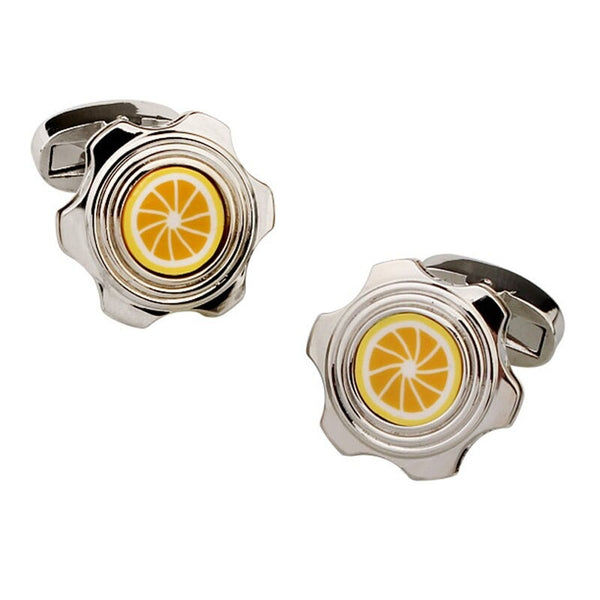 Orange Lemon Cufflinks Fashion Men's Women's Business Banquet French Shirts Accessories Gifts 2020 - mbrbproducts