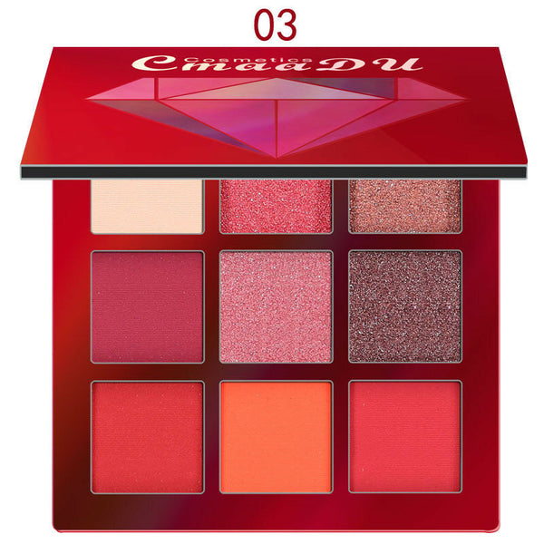 9 Colors Eyeshadow Palette Beauty Makeup Shimmer Matte Gift Eye Shadow Cosmetic - mbrbproducts