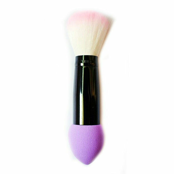 1pc Professional blusher brush 2 heads Nylon Make up Brushes Two Head Metal - mbrbproducts