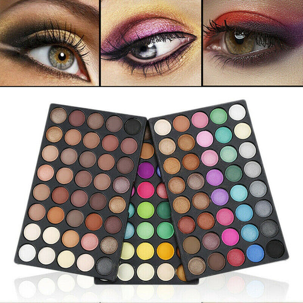 40/120 Colors Eyeshadow Matte Shimmer Eye Shadow Palette Cosmetic Makeup Kit - mbrbproducts