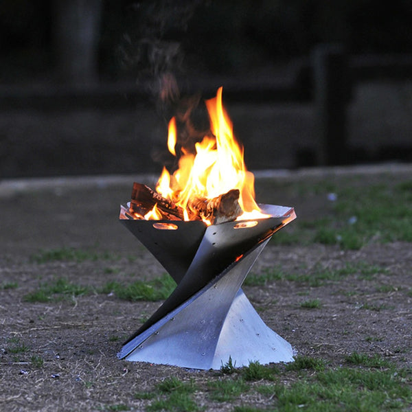 Outdoor Fire Pit Outdoor Campfire Foldable Fire Pit Portable Lightweight Fireplace 4000513039540 - mbrbproducts