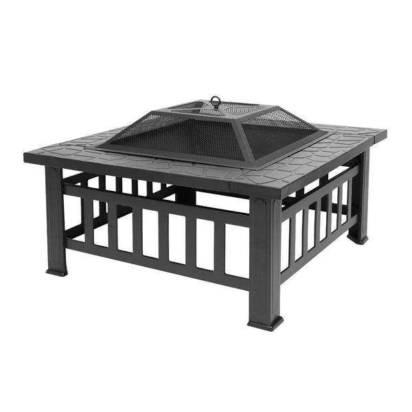 Outdoor Fireplace Metal Fire Cooler Grill with Accessories Garden Picnic Fire Pit - mbrbproducts