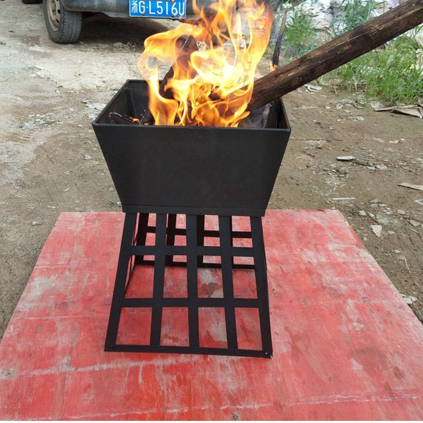 Outdoor Garden Metal Charcoal Fire Pit 500°C Fishing BBQ Bowl Stove - mbrbproducts