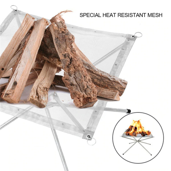 Outdoor Fire Pit FirePlace Table Grill Point Charcoal Stove Heating Camping - mbrbproducts