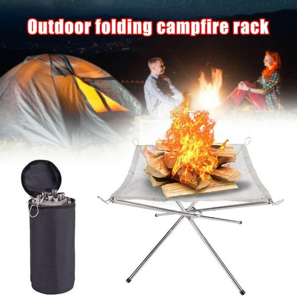 Outdoor Portable Fire Rack Table Grill Steel Stove Charcoal Heating P6M6 - mbrbproducts