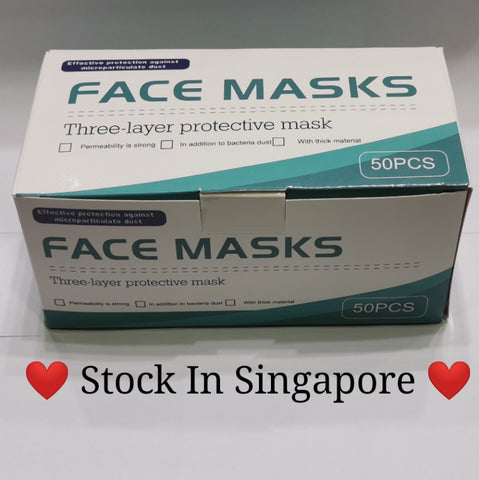 Disposable Face Mask - 3 Ply With CE Certificate - 50pcs / Box