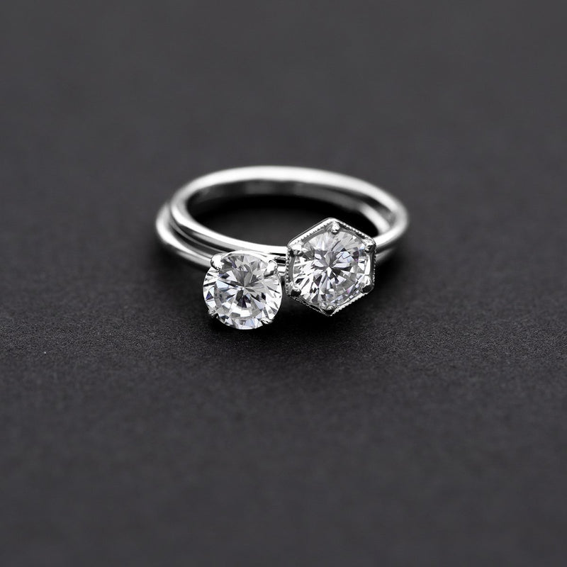 ILA Round Engagement Ring