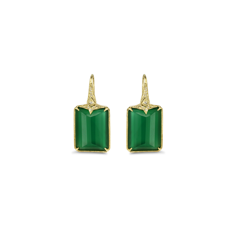 Ines Green Earrings