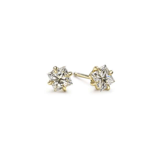 Princess Diamond Ear Studs