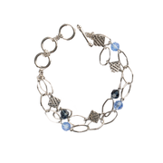 Kiwanis Bracelet with Square Emblems