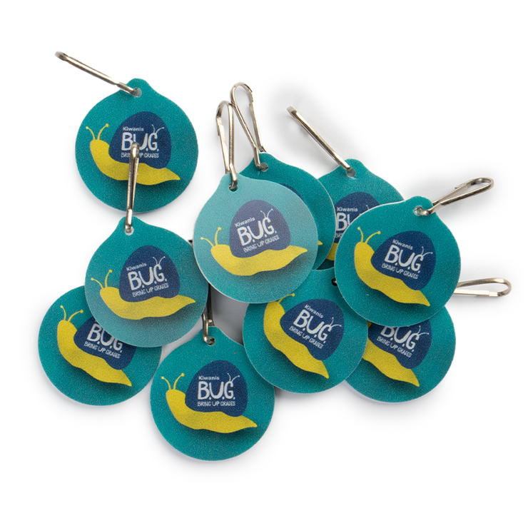 Bringing Up Grades (BUG) Round Zipper Pull - Pack of 10