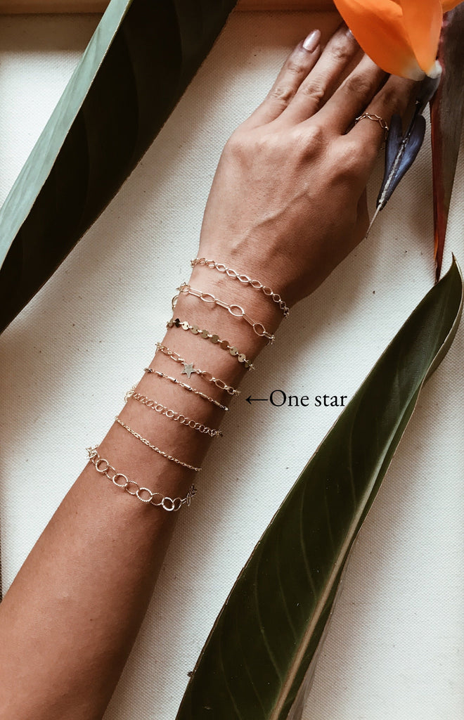 One star Gold Bracelet/Anklet