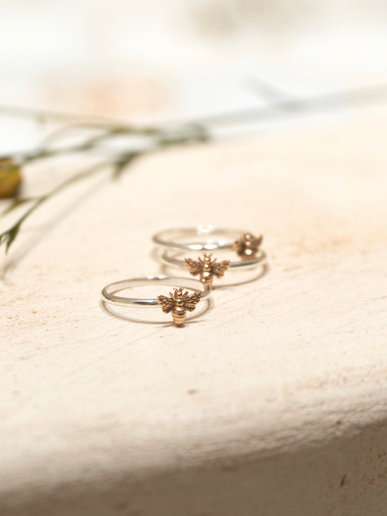 Sweet Honey Bee Rings
