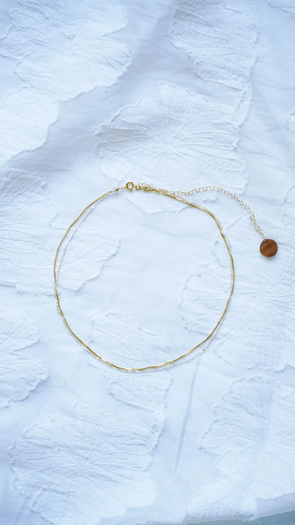 Gold Silver Water Choker